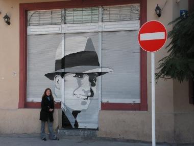 Me and famous Tango Singer Carlos Gardel.