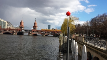 Bridge across the river Spree, the old East-West Berlin divide