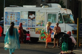 Ubiquitous with summer time in NYC, the ice cream truck!