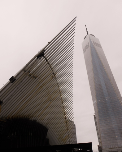 A phoenix and a sleek tower rise from the ashes of the World Trade Center