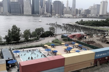 Installing a pop-up pool in a park on a former industrial wharf? Genius!