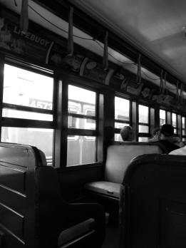 Inside a 100 year old Train Car