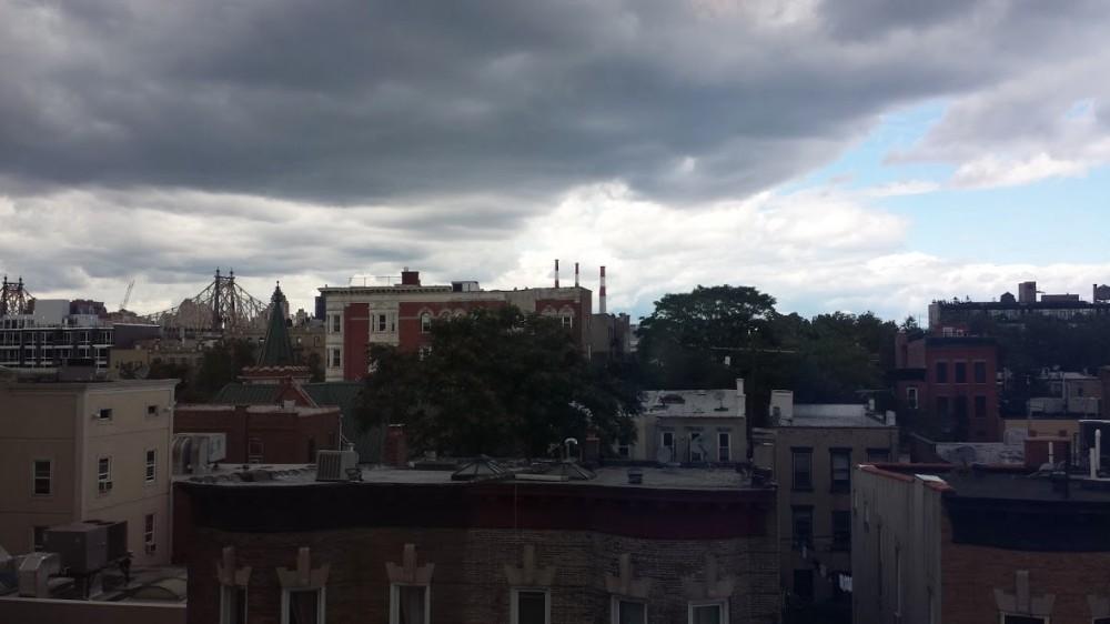 Thunderstorm looming over Queens