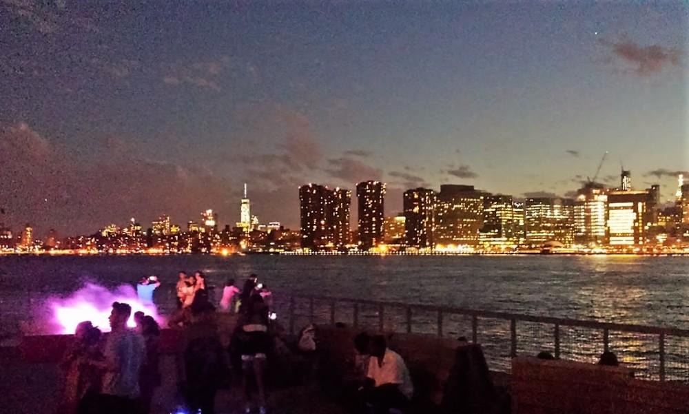 View of Manhattan from Long Island City, at Sundown
