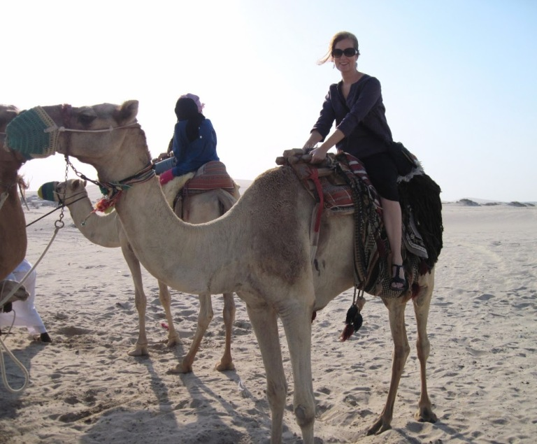 First time on a camel