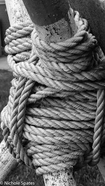 Ropes in a sculpture