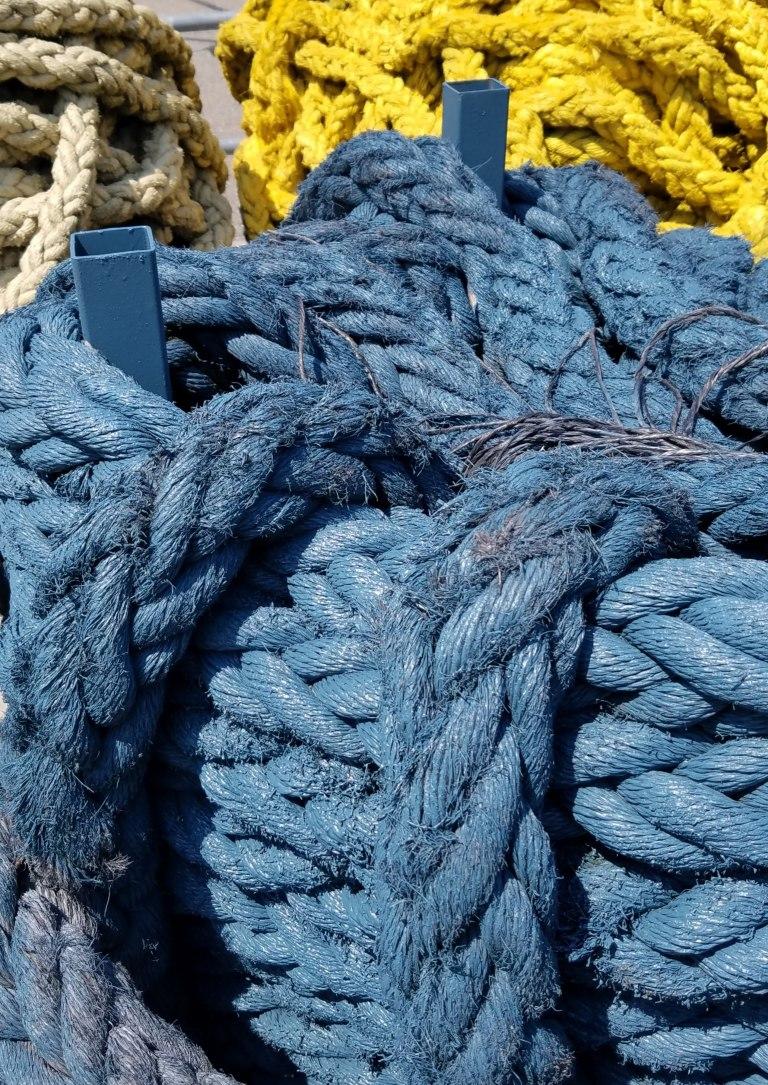 Maritime Ropes,, Red Hook, Brooklyn, Erie Basin Park, Waterfront, repurposed