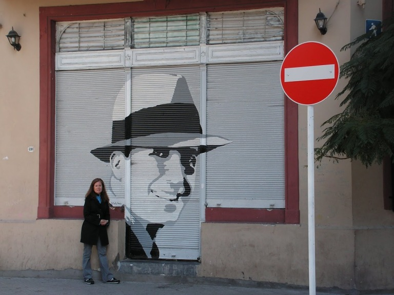 with Carlos Gardel, street art, buenos aires