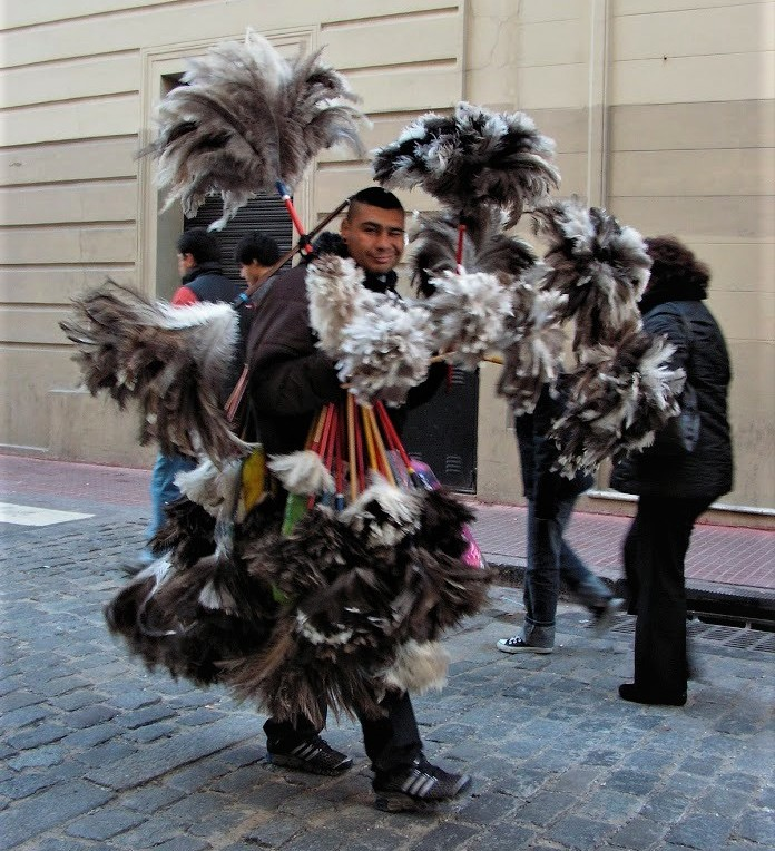 Ostrich Feather man- see lots of these.