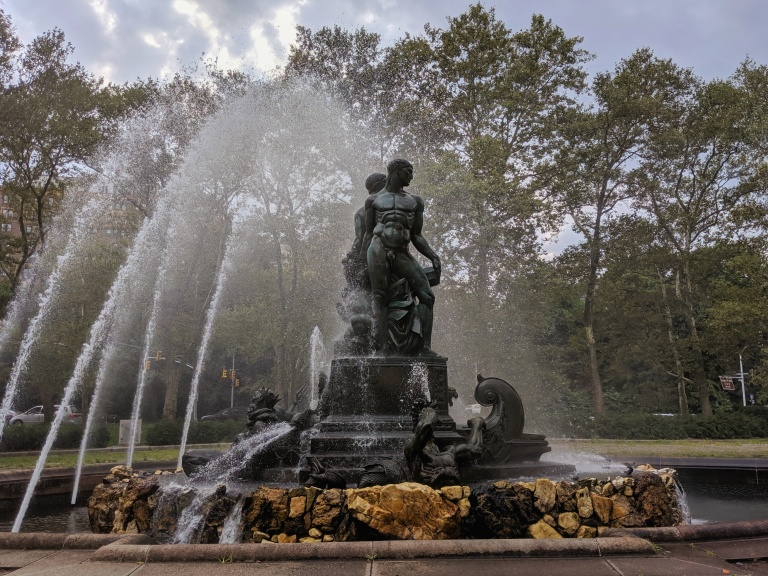 Bailey Fountain in Grand Army Plaza on a stormy day in Brooklyn NY photo by LensMomentsNS