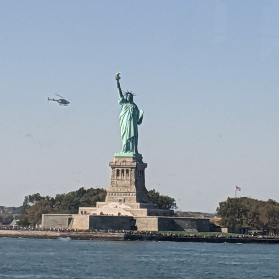 photo of the Stature of Liberty taken from the Staten Island Ferry