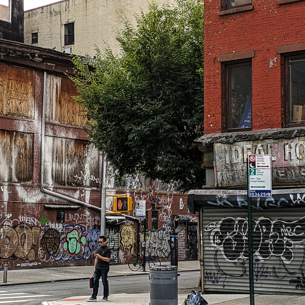 sad looking condemned buidling in Manhattan's Lower East Side Oct 2019 photo by LensMomentsNS - Nichole Spates