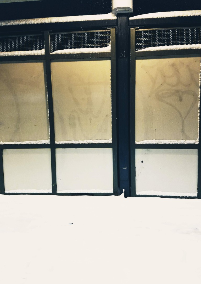 Photo of an elevated subway platform blanketed in snow by LensMomentsNS - Nichole Spates (c) 2018