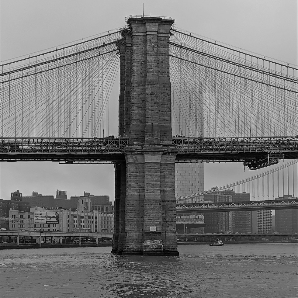 Brooklyn Bridge in the fog a photo by LensMoments - Nichole Spates (c) 2019