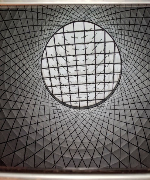 the oculus at the fulton street transit center, reflected in metal a photo by LensMoments - Nichole Spates (c) 2019