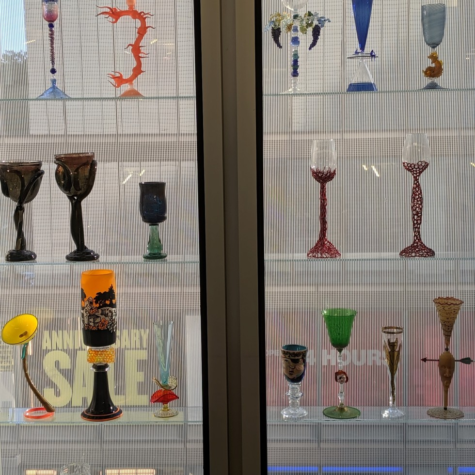 artist designed goblets at the museum of art and design in new york, photo by lensmoments - nichole spates 2019