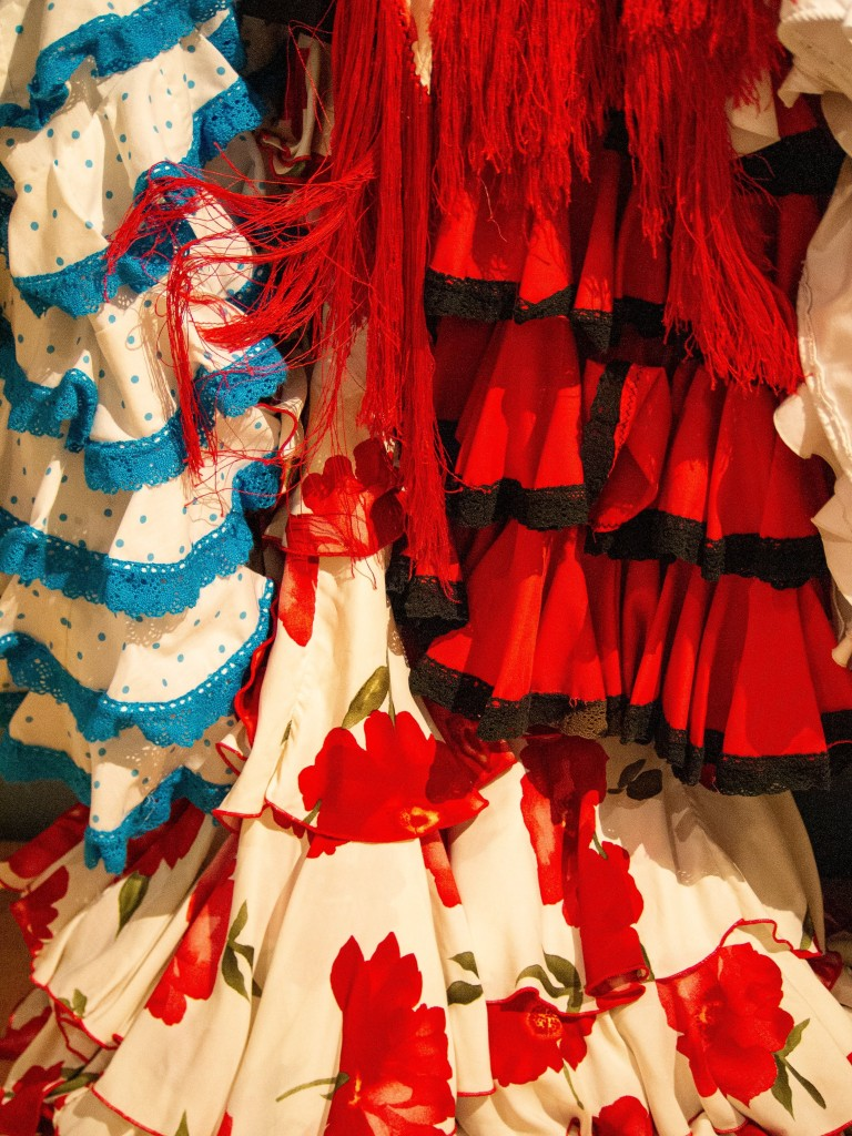 A detail photo of flamenco skirts by LensMoments-Nichole Spates 2030
