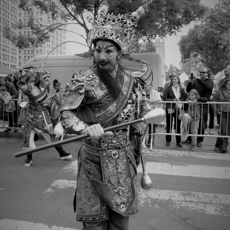 photo of an Asian performer at a parade in new york city (c) LensMoments -Nichole Spates 2016